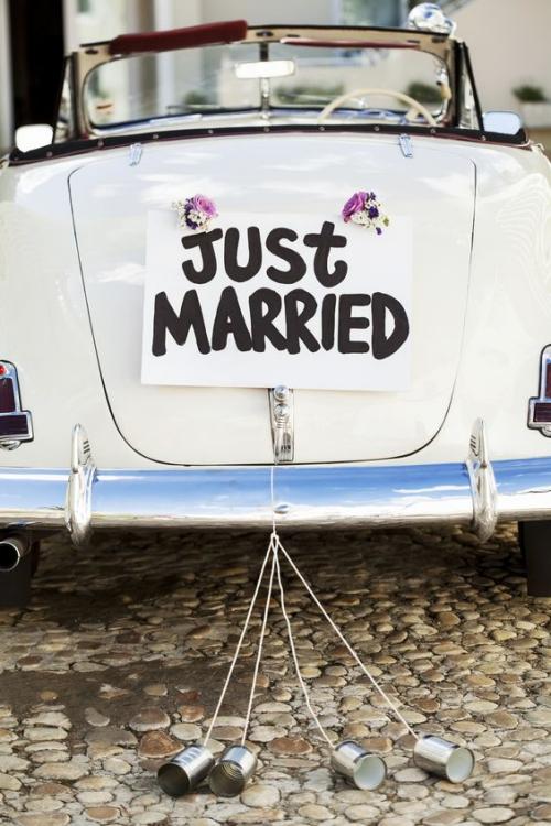 décoration voiture mariage voiture sans toit
