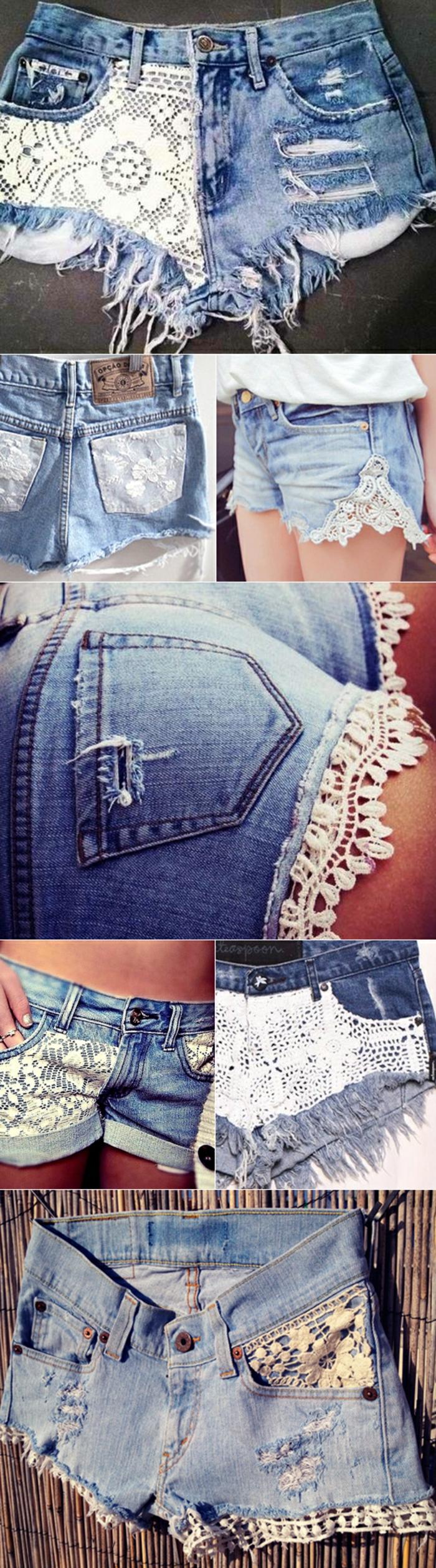 dentelle customiser un jean
