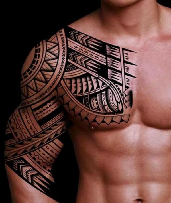 design tatouage maorie homme