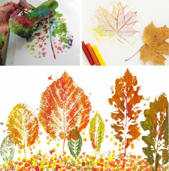 dessin d'automne avec tampon encreur