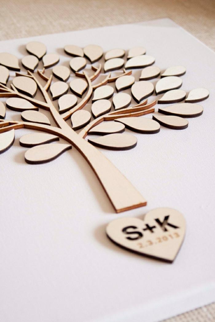 diy arbre à voeux en bois