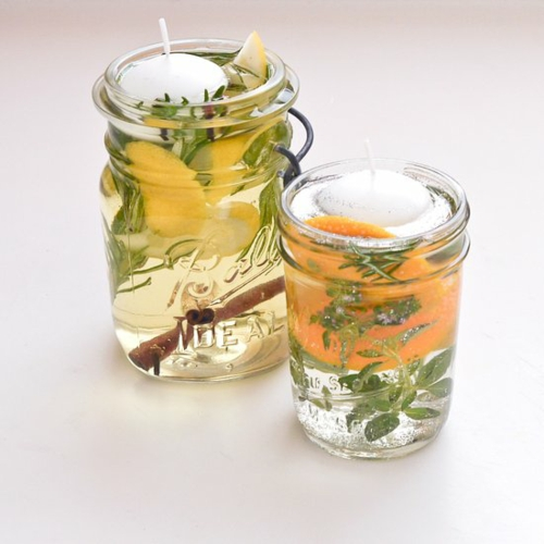 diy bougie anti-moustique huile essentielle