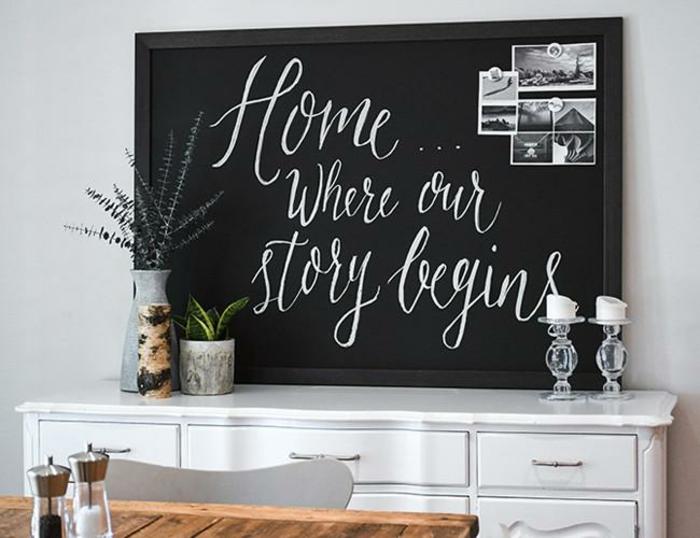 tableau magn tique noir fabriquer soi m me tuto. Black Bedroom Furniture Sets. Home Design Ideas