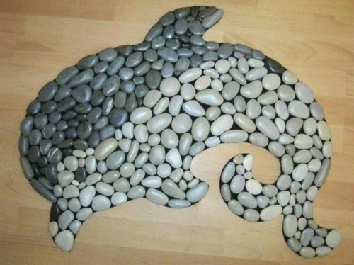 diy dauphin bricolage avec des galets