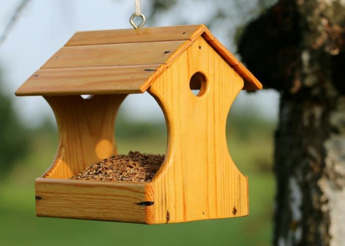 diy mangeoire oiseaux en bois