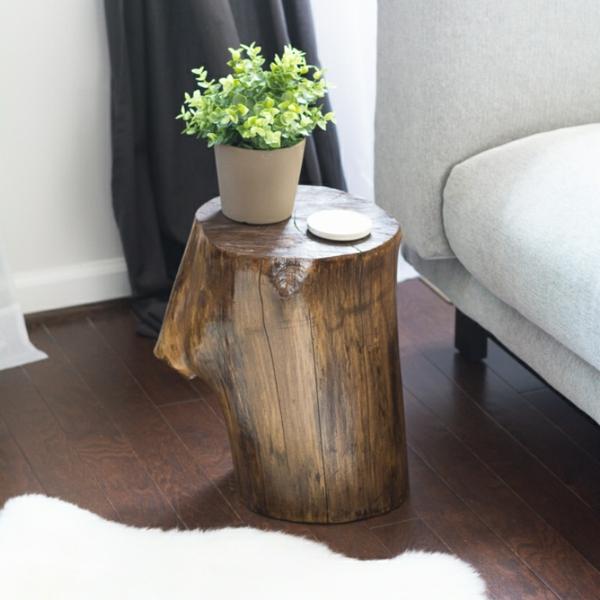 diy table basse tronc d'arbre