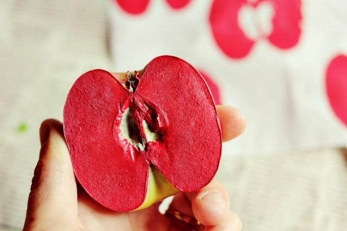 diy tampon encreur pomme
