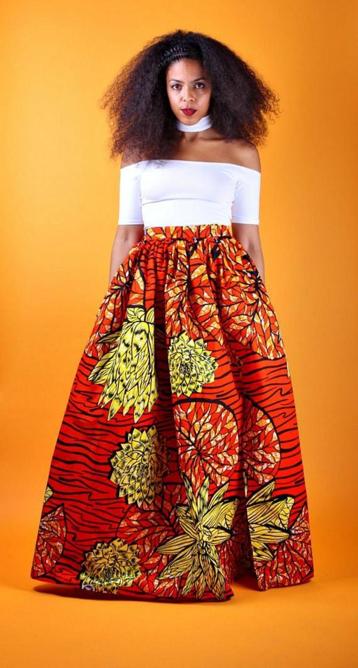 encore une idée comment porter la jupe wax