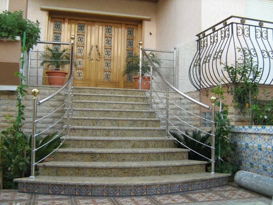 escalier extérieur rampe d'escalier inox
