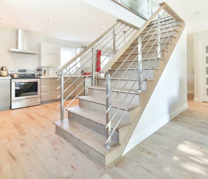 escalier intérieur rampe d'escalier inox