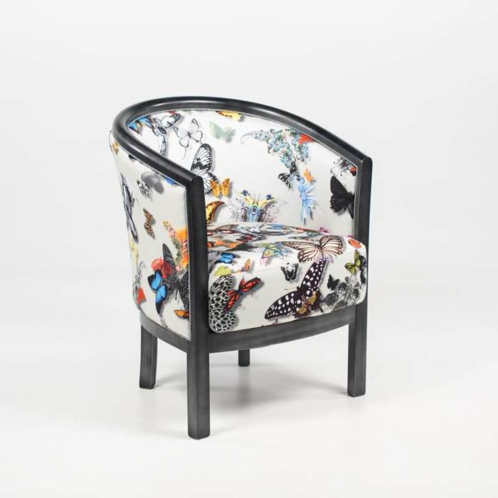 fauteuil tonneau bois massif