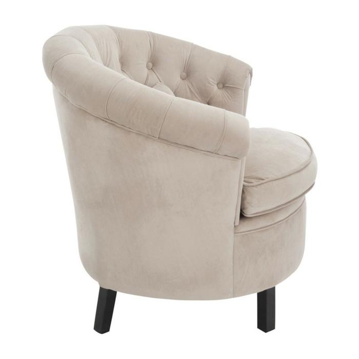 fauteuil tonneau douillet couleur beige