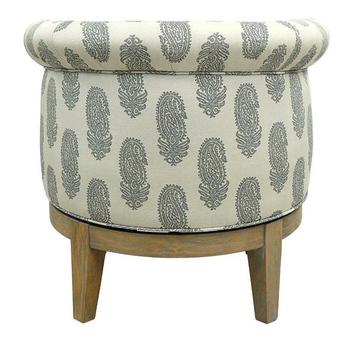 fauteuil tonneau tissu motifs floraux