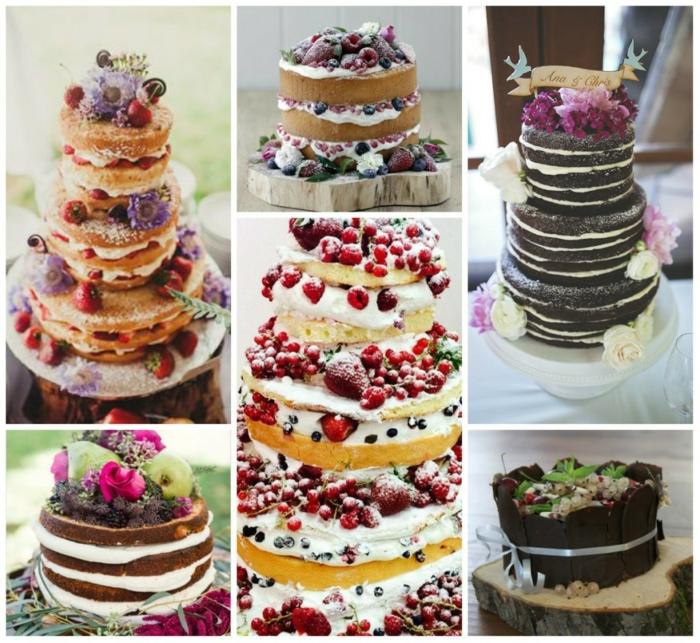 gâteau anniversaire et mariage version nu