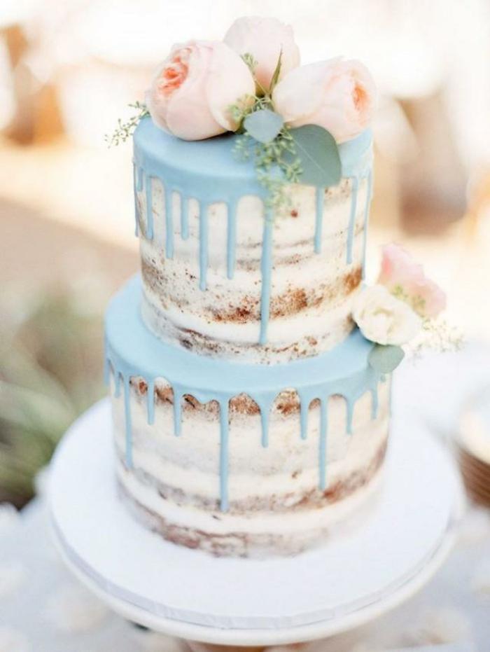 gâteau anniversaire naked au chocolat bleu