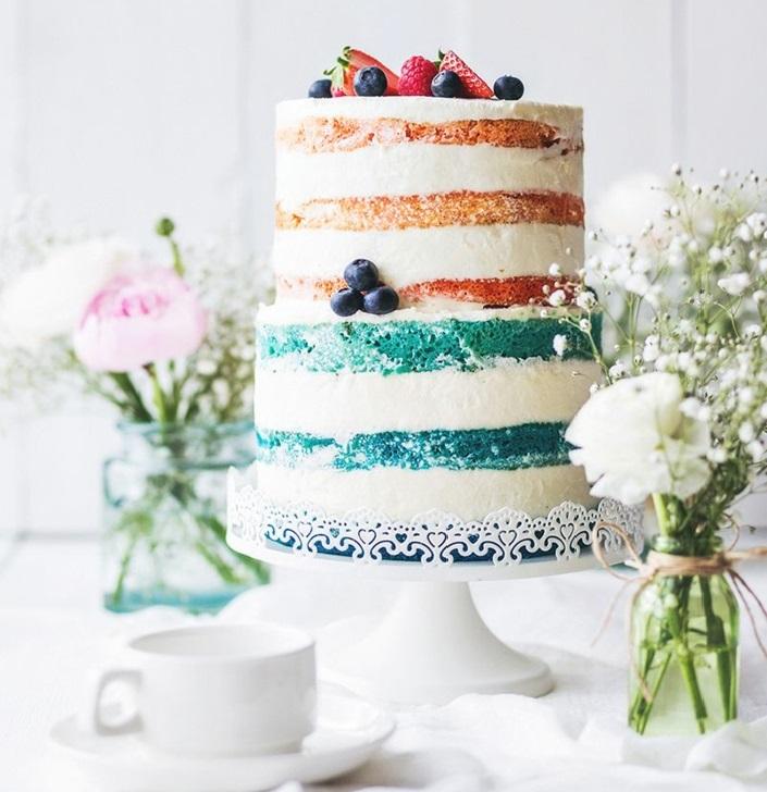 gâteau anniversaire naked coloré