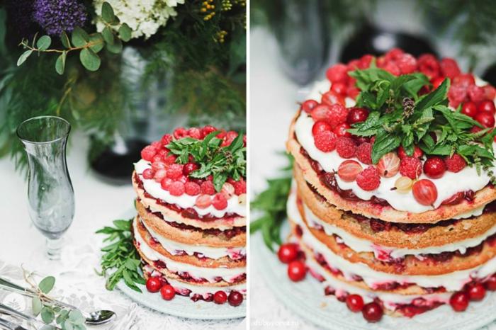 gâteau anniversaire nu déco fruits rouges