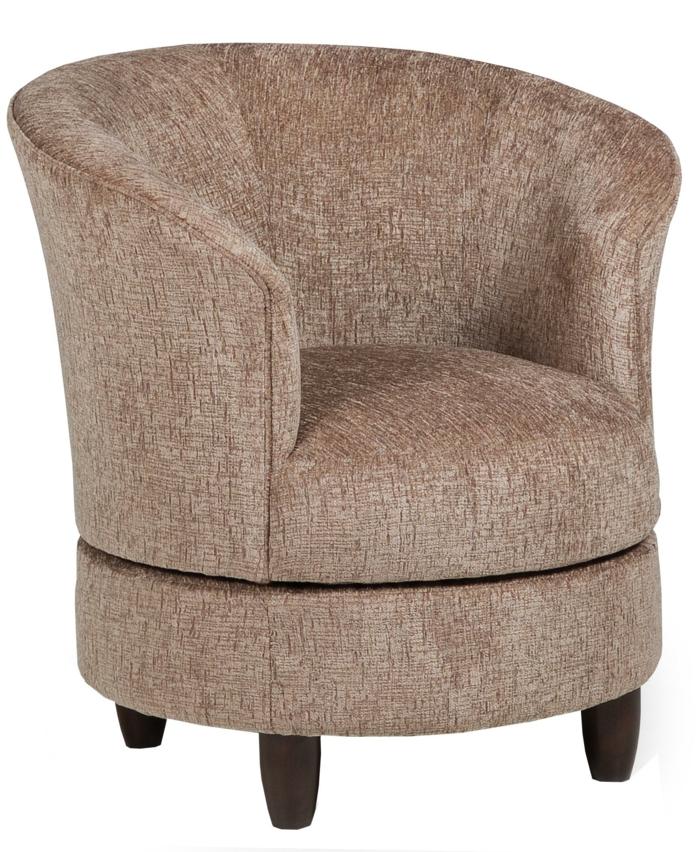 grand fauteuil tonneau pieds en bois