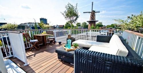idée barrière balcon large terrasse avec belle vue