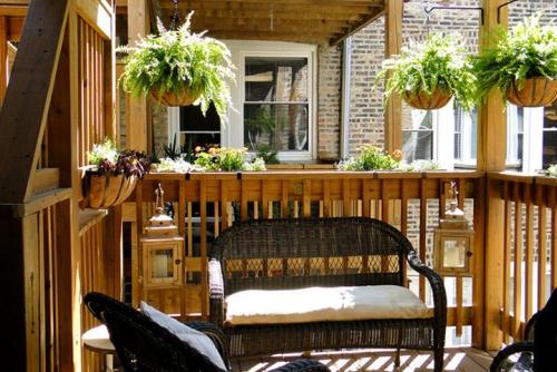 idée barrière balcon le bois est privilégié