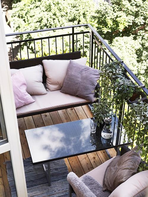 idée barrière balcon table basse en inox