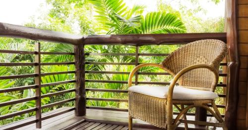 idée barrière balcon terrasse en bois non traité