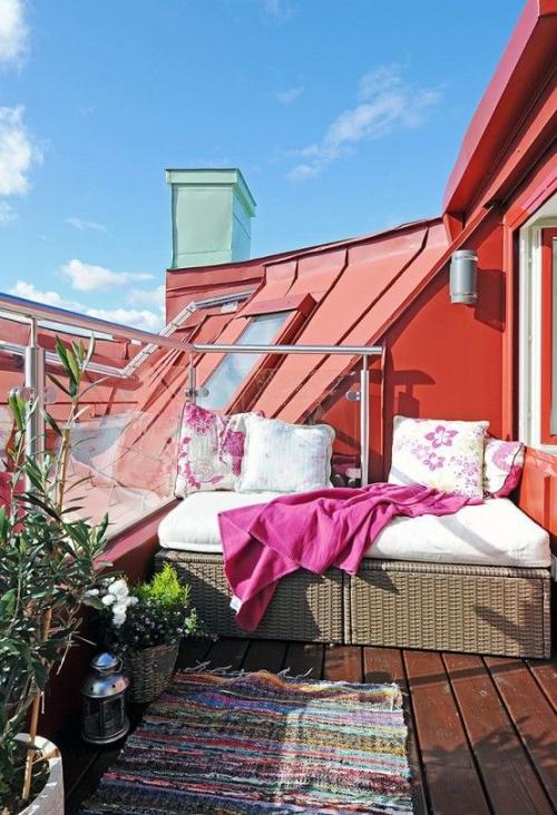 idée barrière balcon terrasse ouverte