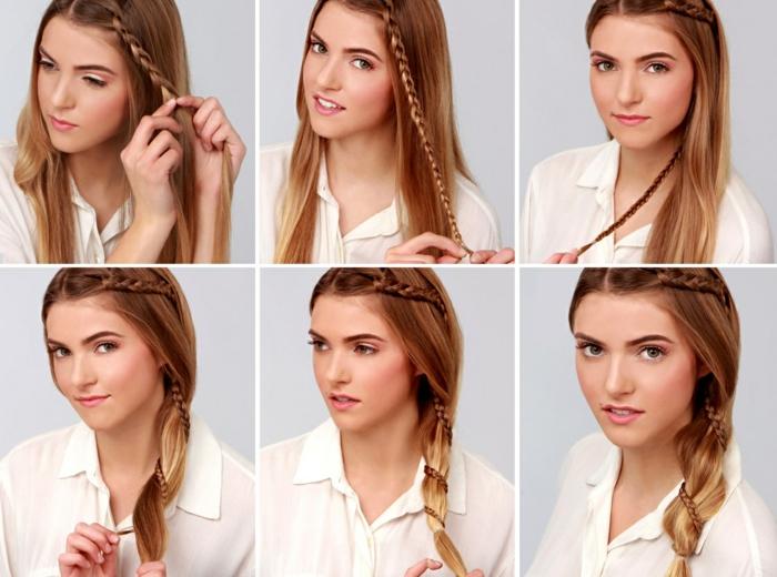 idée coiffure avec une tresse