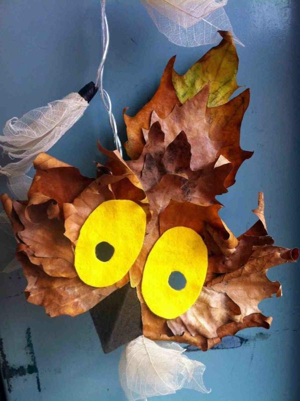 oiseau feuilles d'automne