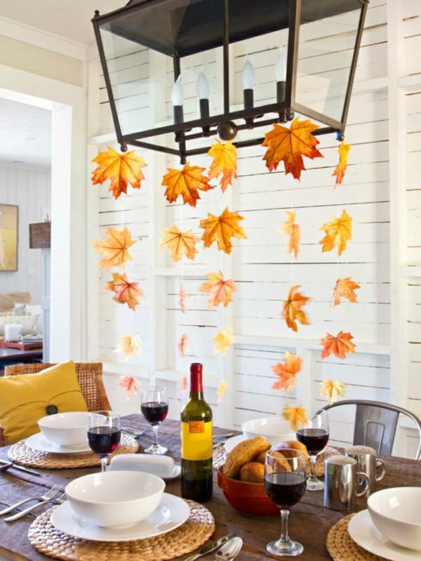 idée déco automne à faire soi-même pour la salle à manger