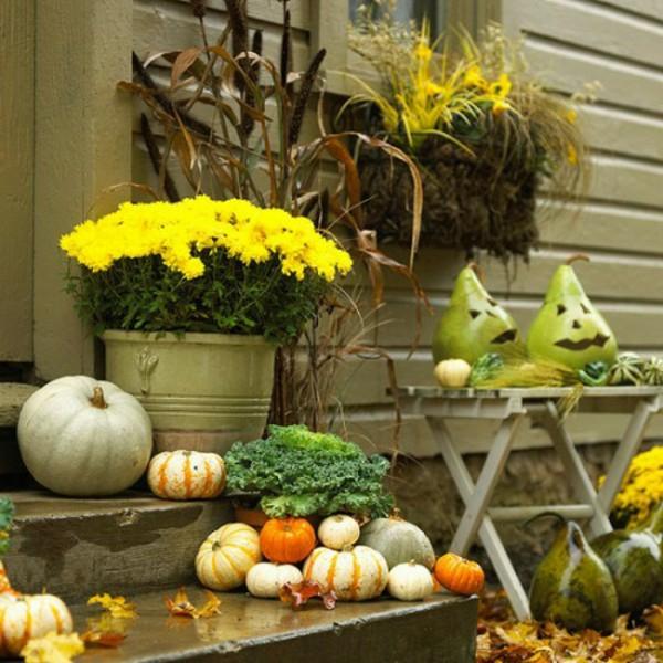 idée déco automne à faire soi,même pour le jardin