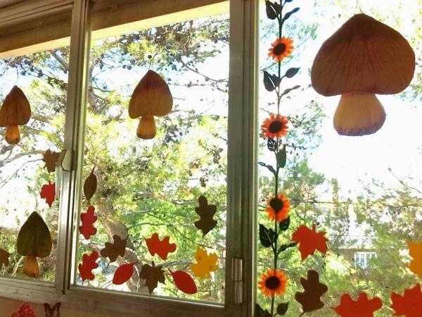 idée déco automne à faire soi-même pour les fenêtres