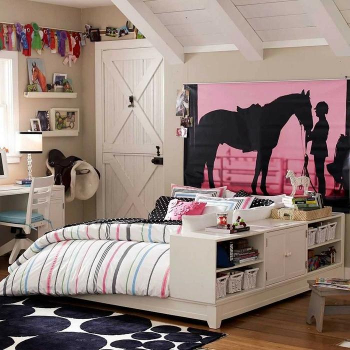 idée déco chambre ado déco murale motifs sportifs