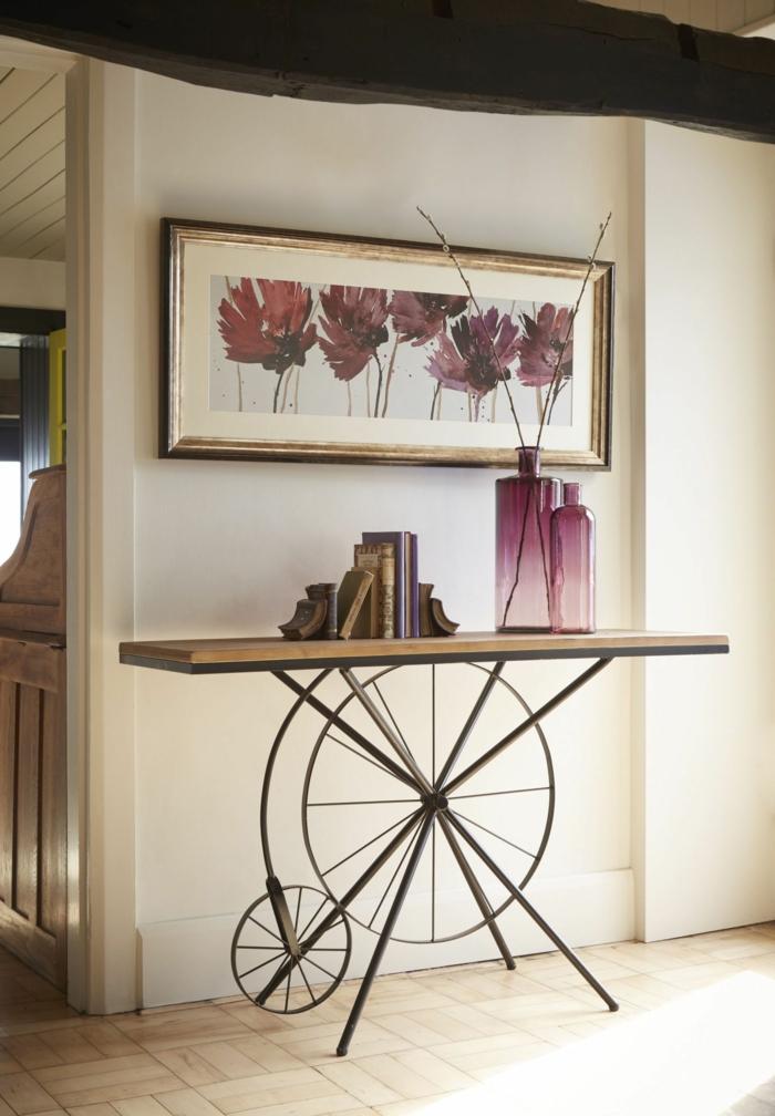 idée déco couloir étroit avec mobilier design