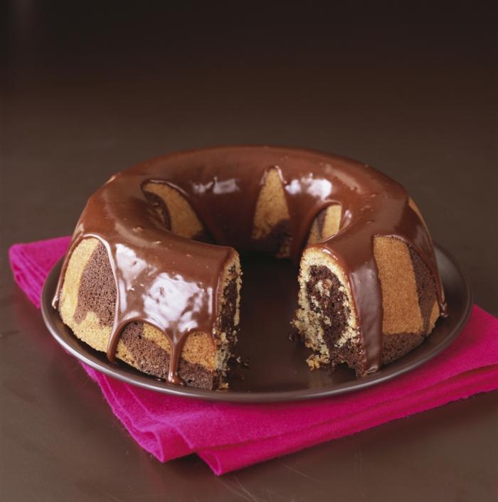 idée déco de gâteau marbré