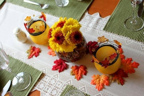 idée déco de table déco automne à faire soi-même