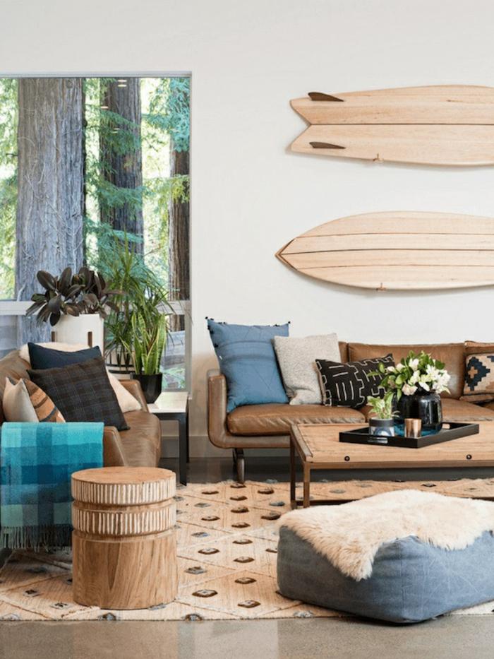 idée déco planche de surf maison