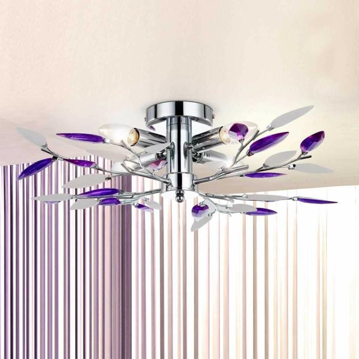 idée déco salle à manger moderne plafonnier guilietta à 4 lampes