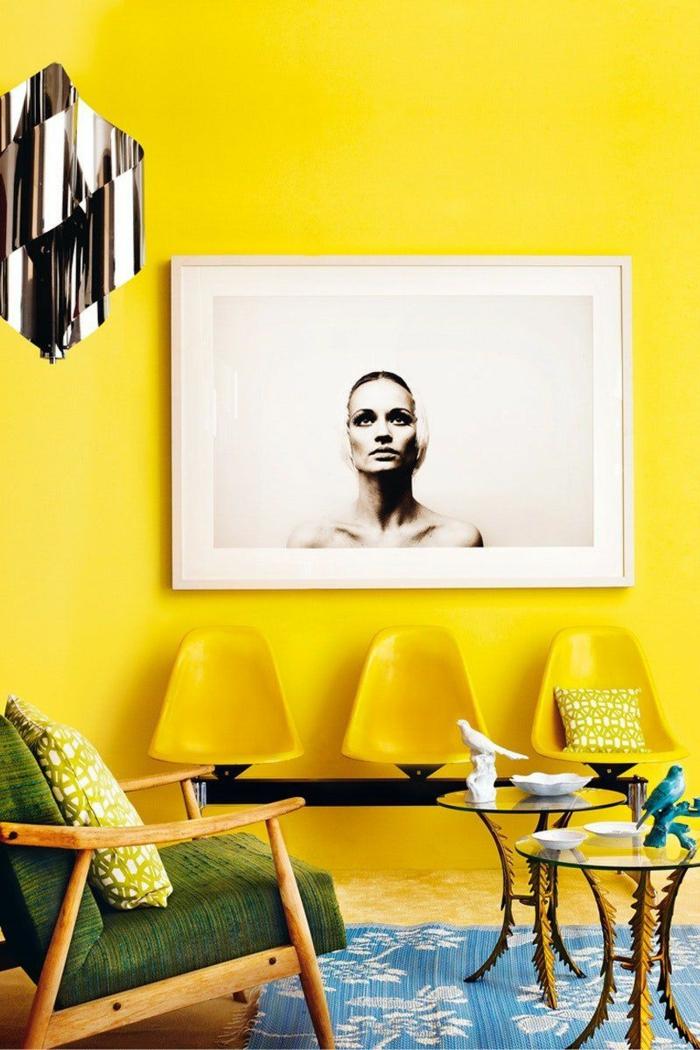 idée de peinture murale jaune gen-z