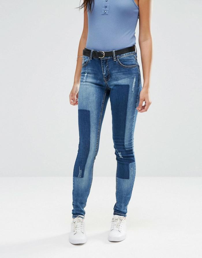 idée diy customiser un jean