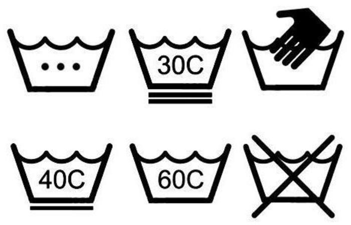 instructions lavage symboles lavage vêtements