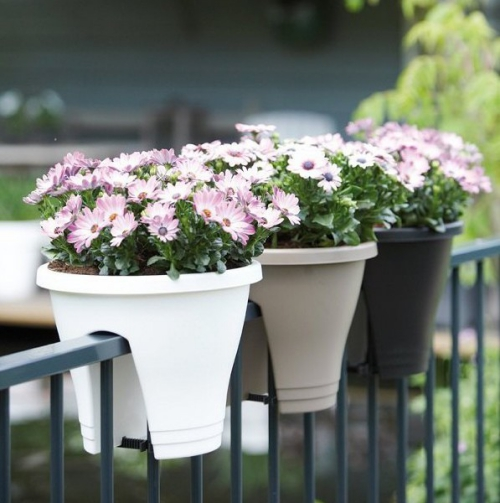 jardinière balcon garde-corps métallique