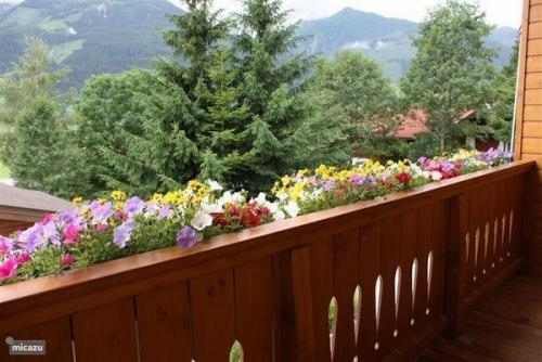 jardinière balcon maison à la montagne