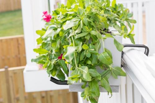 jardinière balcon rambarde en PVC