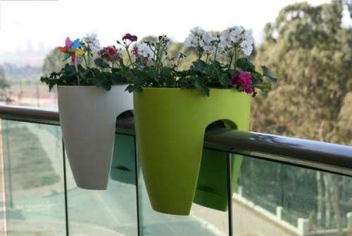 jardinière balcon terrasse en verre