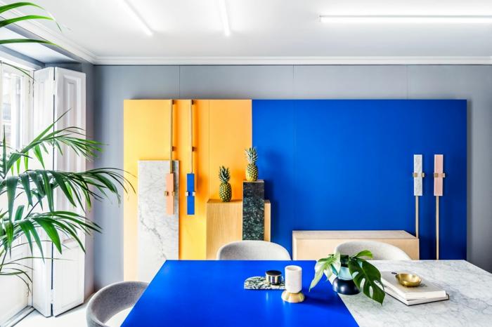 jaune gen-z salle à manger