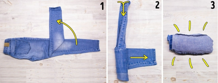 jeans comment ranger sa valise