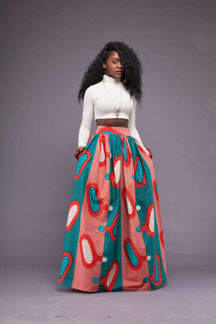 jupe wax mode femme