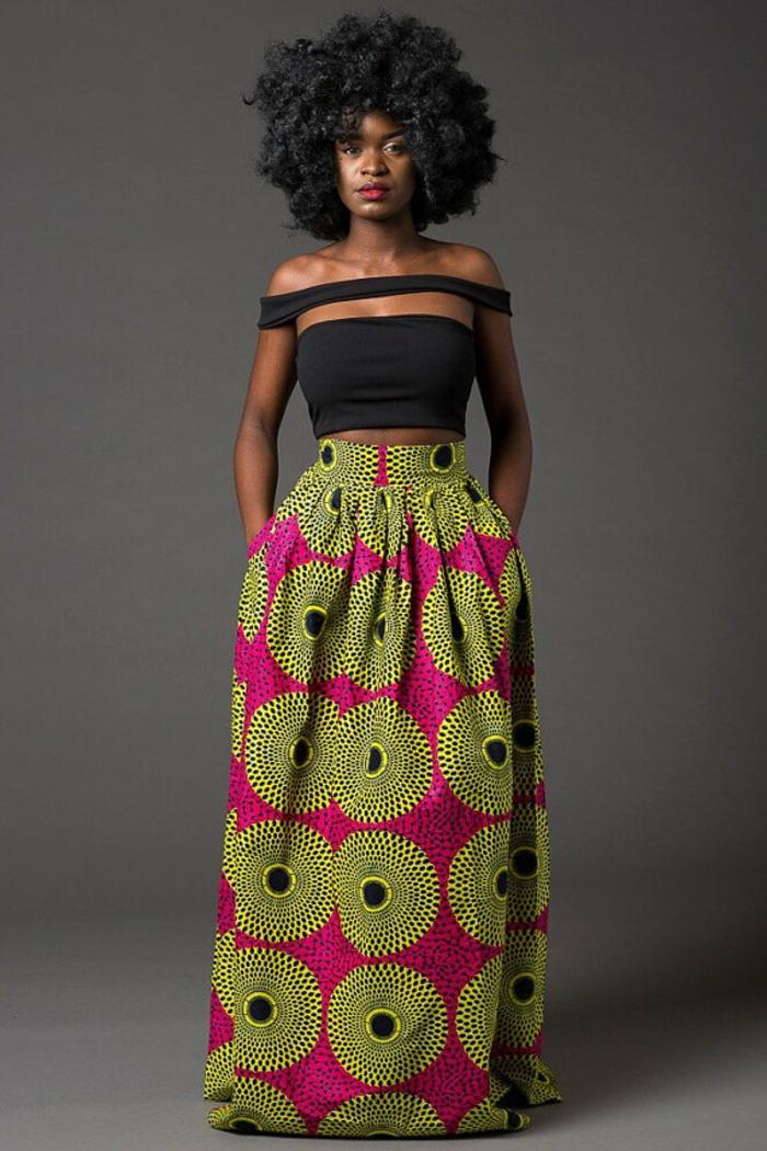 look moderne avec une belle jupe wax