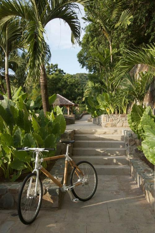 maison de plage en bambou paysage exotique